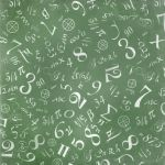 mathematics formulas abstract background (on green chalkboard)