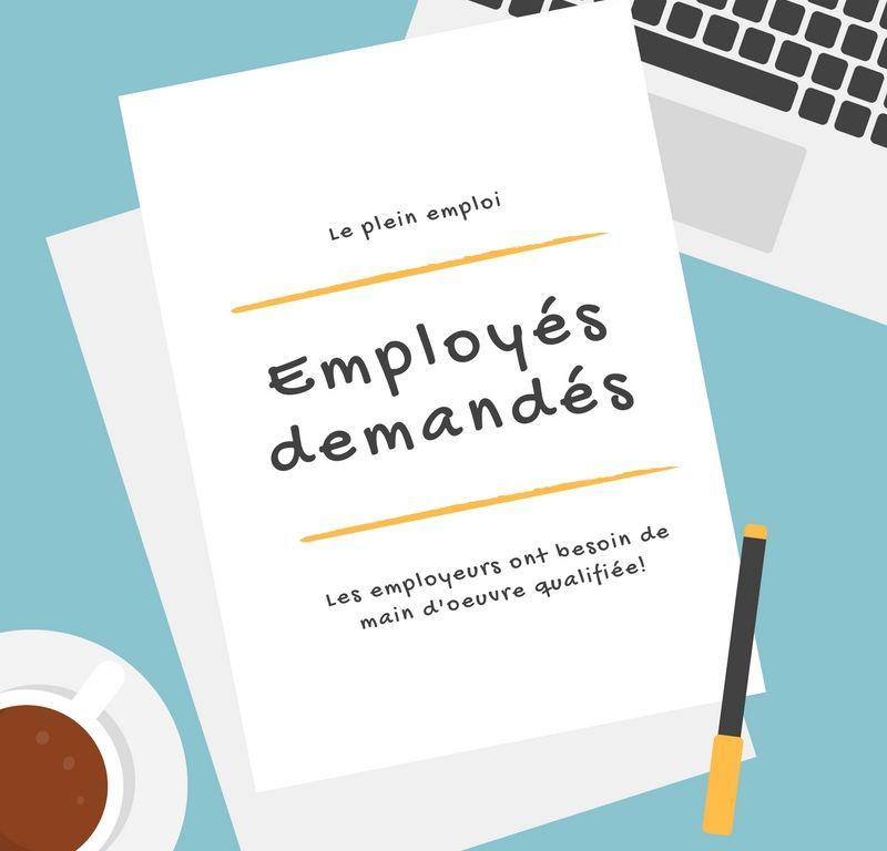 Le marché du travail en 2018 : employés recherchés